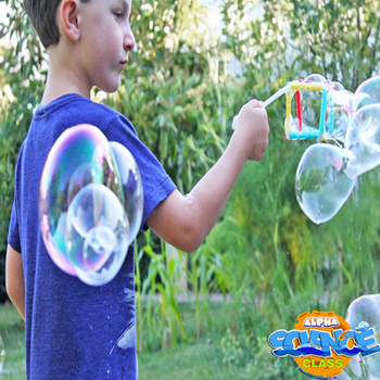Alpha science class: magical cube bubble preparation materials